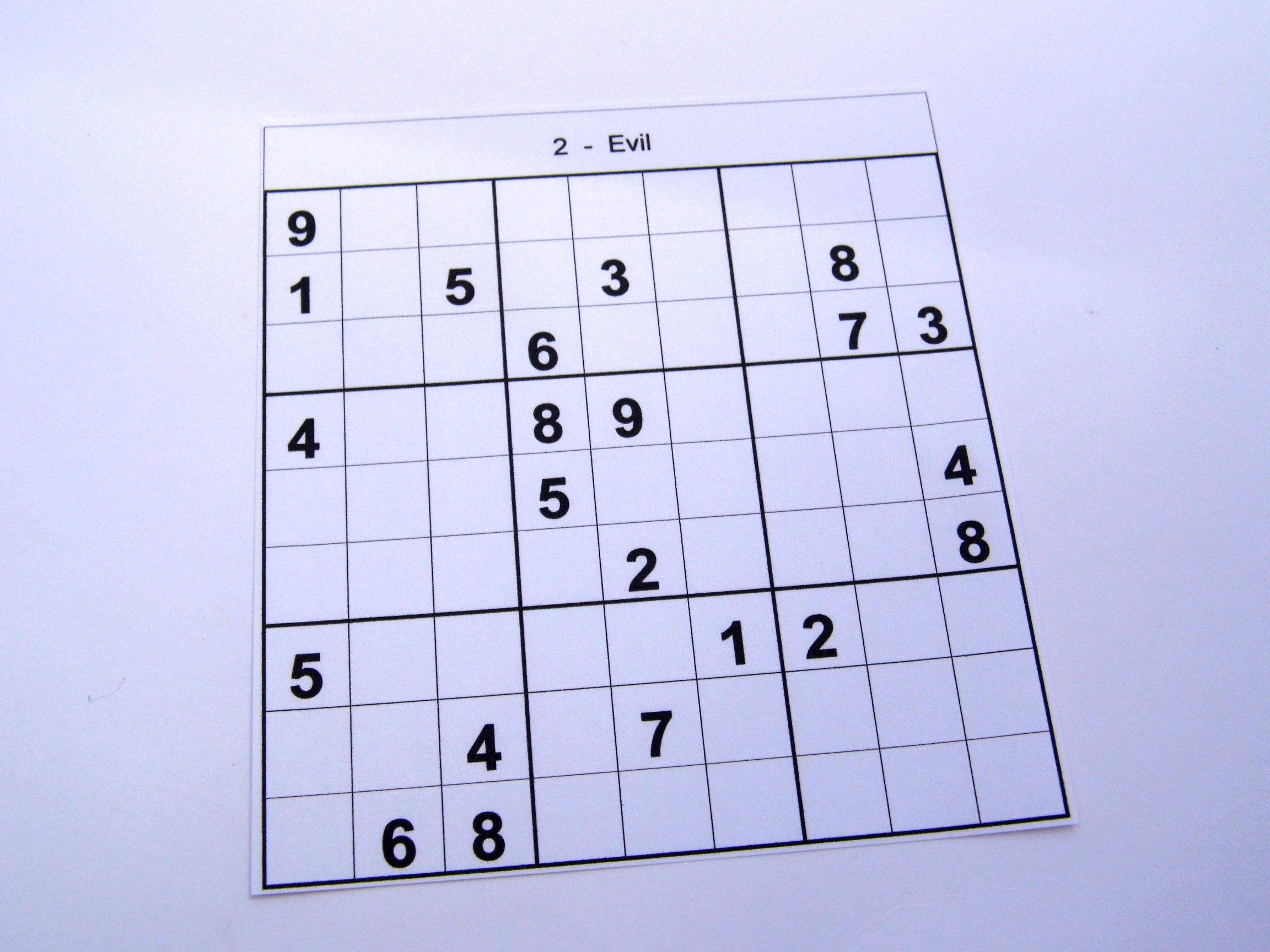 photo about Printable Sudoku Puzzles 6 Per Page named Archive Puzzles 30 Medium Sudoku Puzzles Publications 1 towards 10