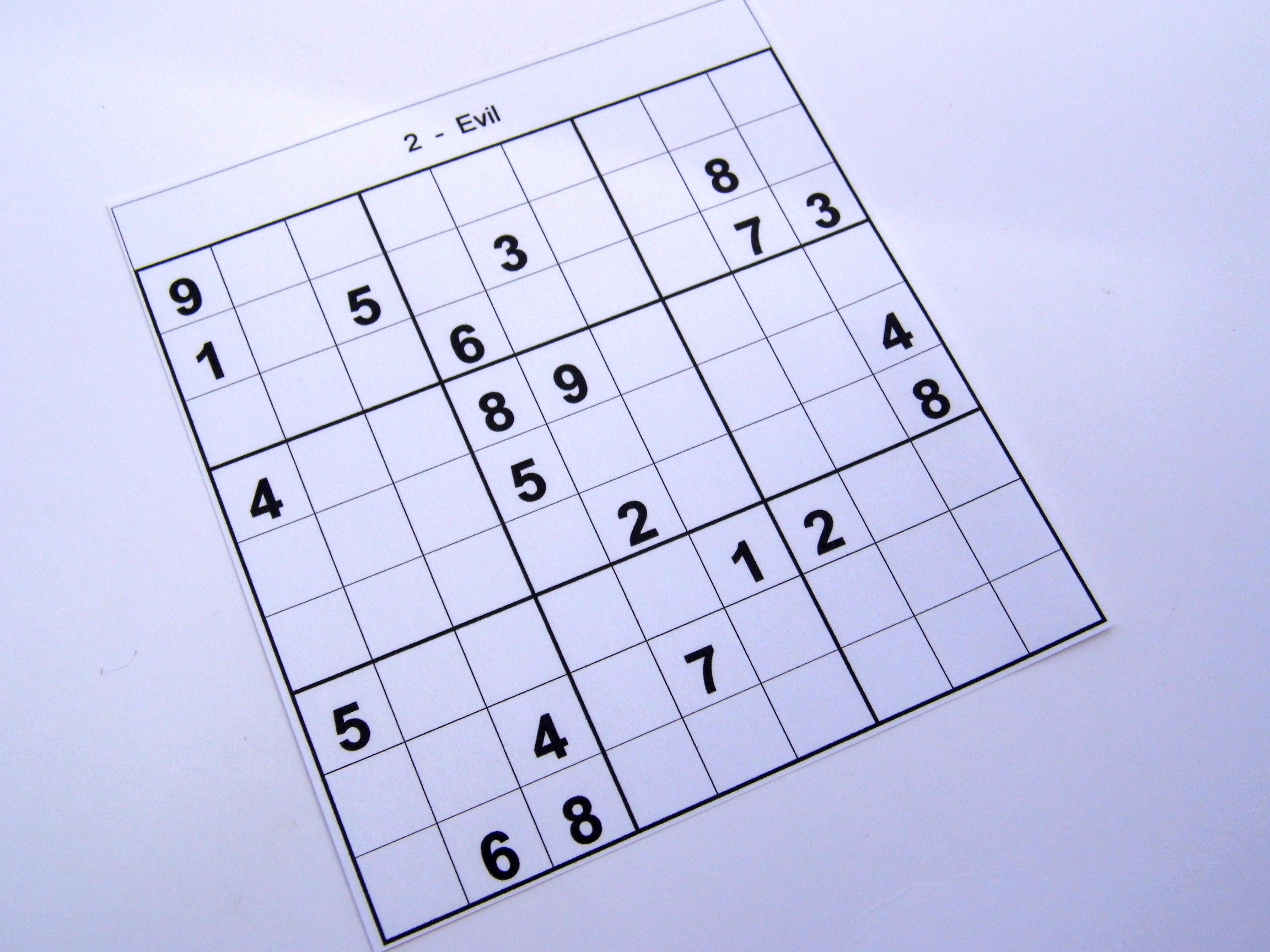 photo relating to Printable Sudoku 6 Per Page named archive evil puzzles Free of charge Sudoku Puzzles